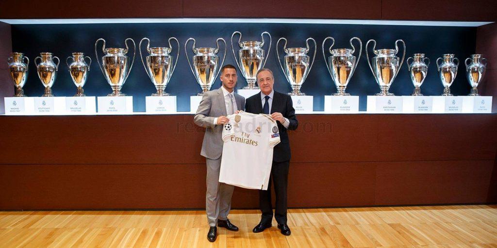 Eden Hazard dan Florentino Perez