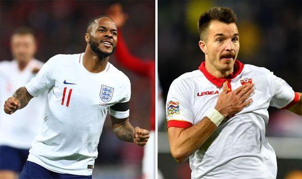 Inggris vs Montenegro